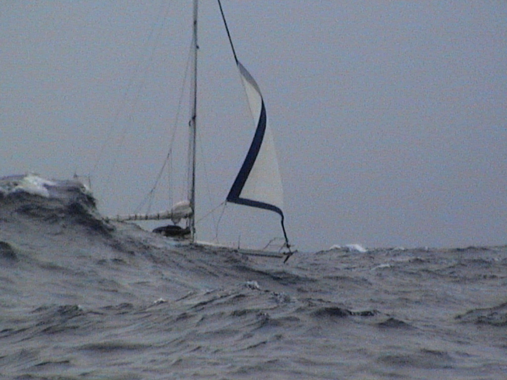 S/Y Thetis in the middle of the North Atlantic Courtesy of Oli Byles