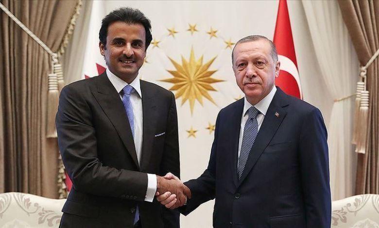 وأمير قطر - أردوغان وأمير قطر يبحثان التعاون في مكافحة كورونا