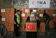 """صورة """"تيكا"""" تُسلم """"الصحة"""" الفلسطينية مساعدات لمواجهة """"كورونا"""""""