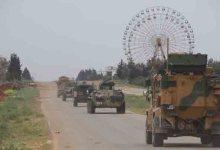 صورة دورية مشتركة روسية تركية على الطريق M4
