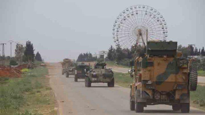 مشتركة روسية تركية على الطريق M4 - دورية مشتركة روسية تركية على الطريق M4
