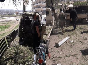 إنفجـ ـار يهز مدينة عفرين شمال حلب