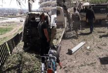 صورة إنفجـ ـار يهز مدينة عفرين شمال حلب