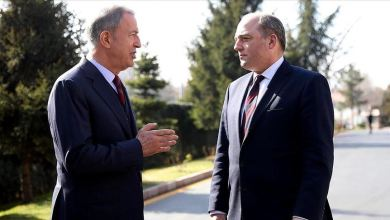 صورة مباحثات تركية بريطانية حول مكافحة فايروس كورونا