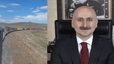 صورة قطار تصدير عملاق من تركيا لدول آسيا الوسطى