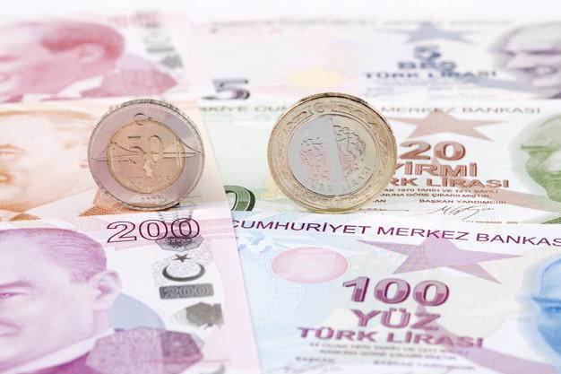 turkish lira coins background banknotes 52793 393 - صرف الليرة التركية الأربعاء 29/04/2020