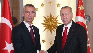صورة أردوغان وستولتنبرغ يبحثان ملفي سوريا وليبيا