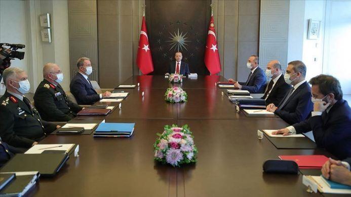 يترأس اجتماعا أمنيا في إسطنبول - الرئيس التركي:أردوغان يترأس اجتماعا أمنيا في إسطنبول
