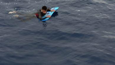 صورة تركيا.. ضبط طالب لجوء حاول وصول اليونان بلوح لركوب الأمواج في ولاية موغلا (غرب)