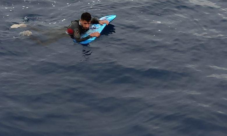 edd0c1f5ef994183a970a607e5f34cba - تركيا.. ضبط طالب لجوء حاول وصول اليونان بلوح لركوب الأمواج في ولاية موغلا (غرب)