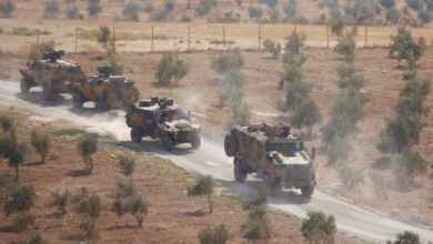 صورة تحركات عسكرية جديدة للجيش التركي في ادلب .