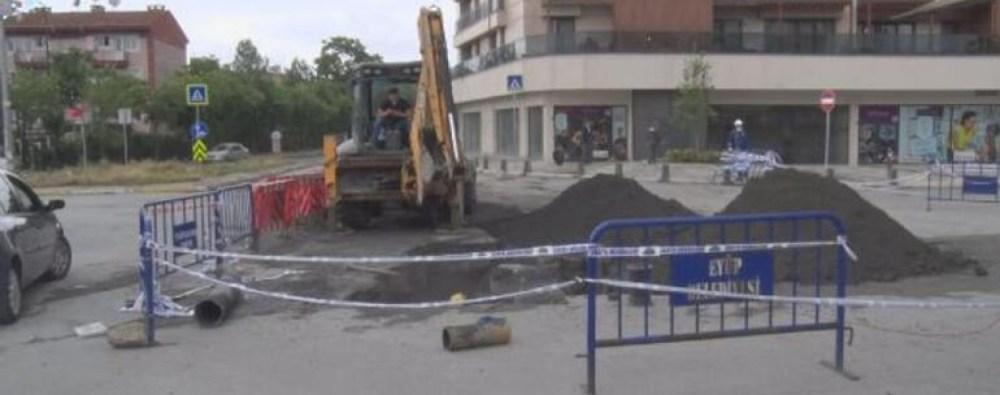 أعمال صيانة ل أحد الطرقات في اسطنبول تسبب أنهيار أرضي