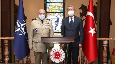 """أنقرة.. أقار يبحث مع """"الناتو"""" التطورات شرقي المتوسط"""