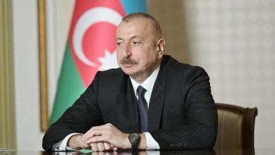 """صورة الرئيس الأذري يؤكد دفاعه عن بلاده و""""قره باغ"""" عقب الهجوم المضاد على أرمينيا"""