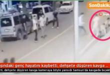 صورة كأنهم في حلبة مصارعة.. شاهد لحظة هجوم 20 شابًا تركيًا على طفل سوري وقتله بدمٍ بارد
