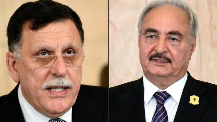 5802667 3168 1784 15 105 - الحكومة الليبية تنفي عقد لقاء مرتقَب بين السراج وحفتر بباريس