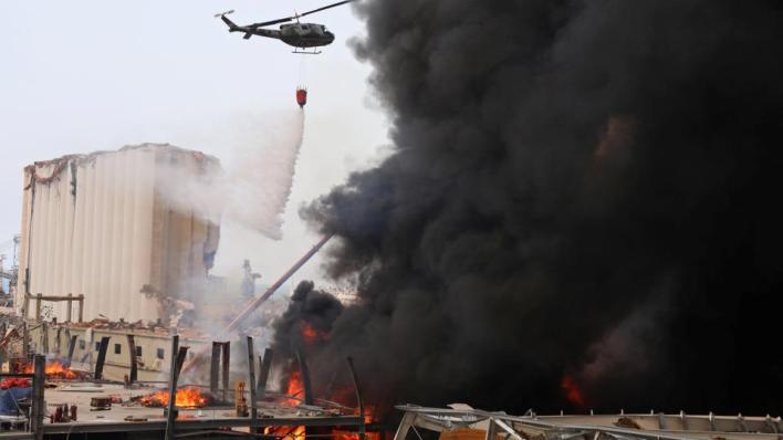 8809381 3400 1915 19 194 - حريق جديد بمرفأ بيروت ووزيرة العدل تطالب بتحقيق فوري