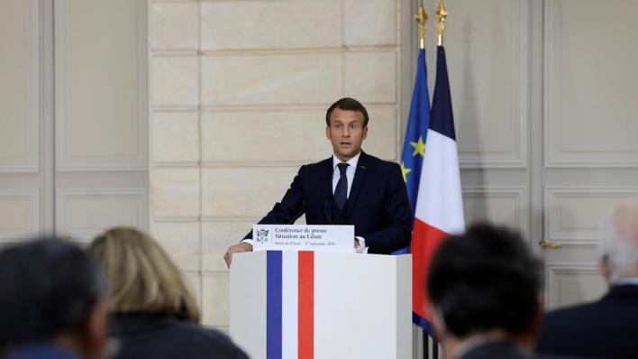 الرئيس الفرنسي أمهل القادة اللبنانيين من 4 إلى 6 أسابيع لتشكيل حكومة في إطار المبادرة الفرنسية
