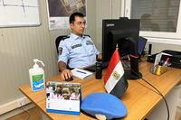 صورة ماهر بطرس، طبيب في شرطة الأمم المتحدة بملكال ينضم إلى فريق الاستجابة لفيروس كورونا