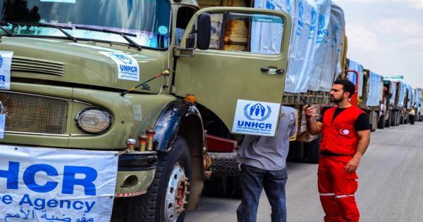 dkhwl qfl nsny wst swry wlqsf yrql twzy lmsdt bdry 307741 - ميليشيات تابعة للأسد تستحوذ على معظم المساعدات الإنسانية في ريف دمشق
