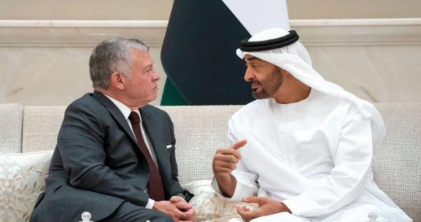 mhmd bn zyd wmlk lrdn 0 0 - بعد هجوم الأمير علي.. محمد بن زايد يهدد ملك الأردن بهذا الأمر