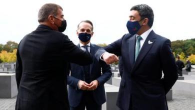 صورة وزيرا خارجية إسرائيل والإمارات يزوران متحف الهولوكوست ببرلين
