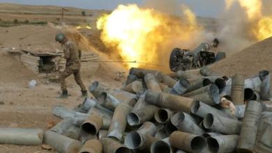 صورة استمرار الاشتباكات على خط الجبهة بين أذربيجان وأرمينيا