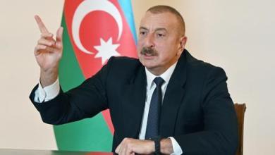 صورة الرئيس الأذربيجاني يعلن تحرير 8 قرى من الاحتلال الأرميني