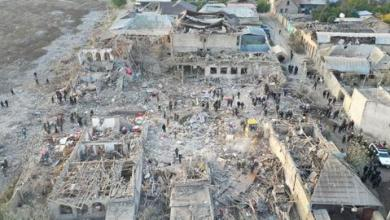 """صورة خلف 13 قتيلاً.. إدانة أممية للقصف الأرميني على مدينة """"غنجة"""" الأذربيجانية"""