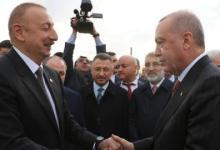 صورة علييف يهنئ أردوغان والشعب التركي بمناسبة عيد الجمهورية