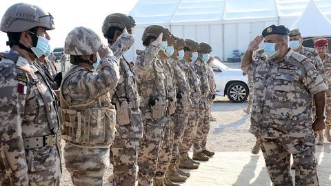 """1603998446 9394816 1480 833 89 1 - شاهد.. قطر تختتم تمرين """"نصر 2020"""" العسكري وسط حضور تركي"""