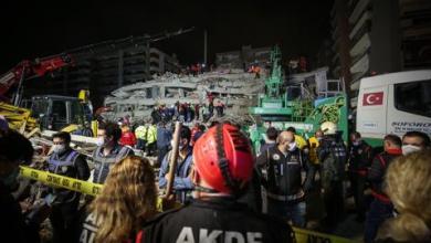 صورة زلزال إزمير.. وفاة 17 شخصاً وفرق الإنقاذ تواصل عملها