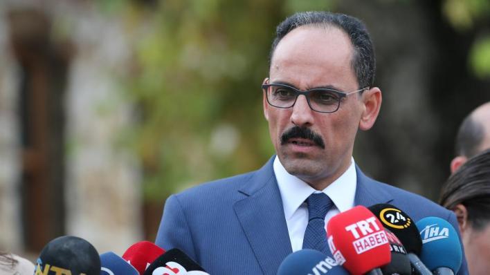 المتحدث باسم الرئاسة التركية إبراهيم قالن يدعو واشنطن لاتخاذ موقف أكثر حيادية حيال الأزمة شرقي المتوسط