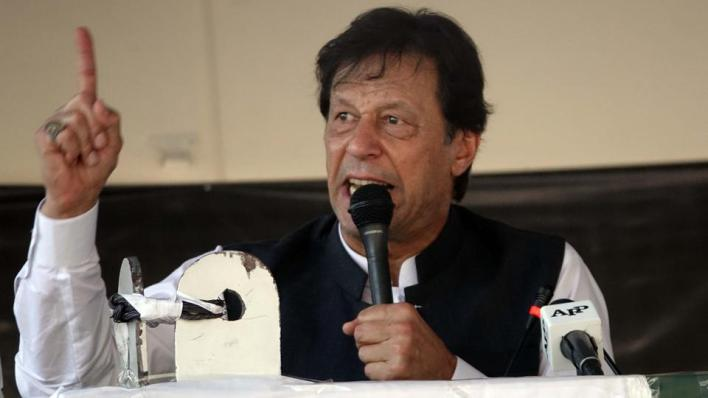حمّل رئيس الوزراء الباكستاني عمران خان الهند مسؤولية اغتيال رئيس