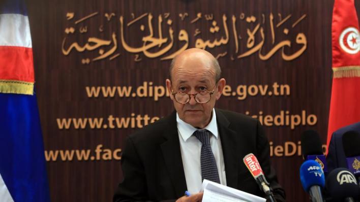 بحث وزير الخارجية الفرنسي الملف الليبي في تونس كما كشف عن حزمة مساعدات للبلاد