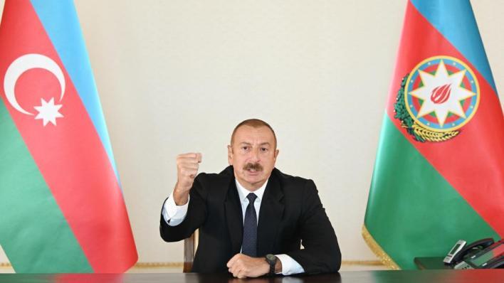 الرئيس الأذربيجاني إلهام علييف يقول إن الطائرات التركية المسيّرة لعبت دوراً مهماً في تقليل خسائرنا بالأرواح