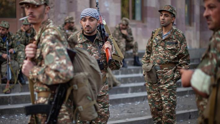 أفاد جهاز أمن الدولة الأذربيجاني بوجود إرهابيين تابعين لتنظيمPKK يقاتلون مع الجانب الأرميني في إقليم قره باغ