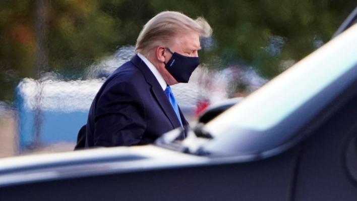 مسؤولون في حملة الرئيس الأمريكي دونالد ترمب يقولون إن ترمب يعاني من مشاكل تنفسية إثر إصابته بفيروس كورونا