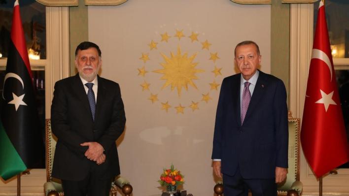 أردوغان يؤكد عزم تركيا على تعزيز علاقاتها مع حكومة الوفاق