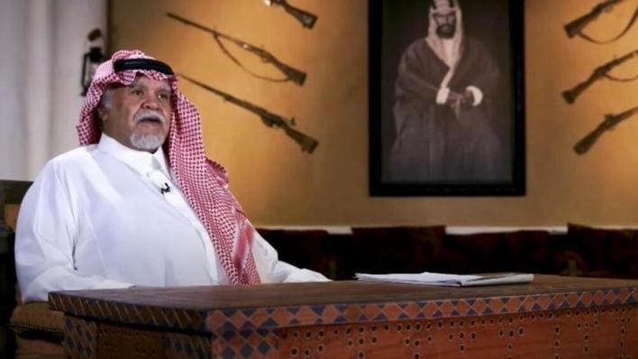 بندر بن سلطان خلال اللقاء مع قناة العربية