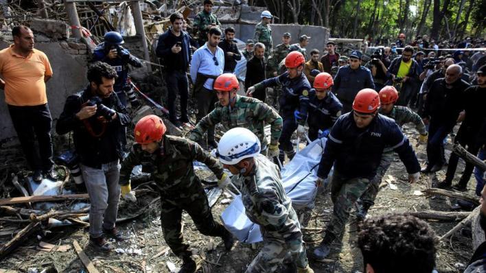 مقتل 9 مدنيين بينهم 4 نساء وإصابة آخرين بعد خرق أرمينيا الهدنة وقصف المناطق السكنية