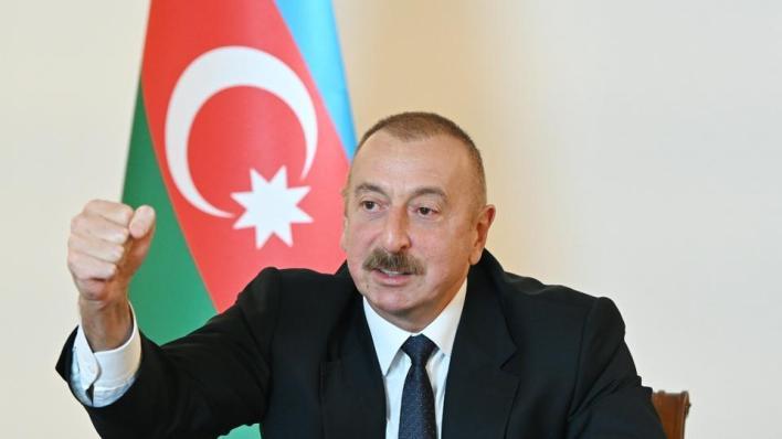 علييف يعلن تحرير كامل الأراضي الأذربيجانية التي تحتلها أرمينيا على الحدود مع إيران