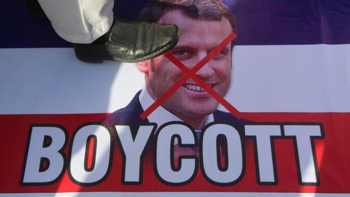 حملات شعبية كبيرة لمقاطعة المنتجات الفرنسية بعد هجوم ماكرون على الإسلام