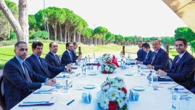 """صورة جاوش أوغلو ونظيره القطري يتناولان تحضيرات """"اللجنة الاستراتيجية العليا"""""""