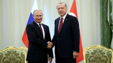 "صورة أردوغان وبوتين يبحثان اتفاق ""قره باغ"""