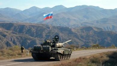 صورة قوات السلام الروسية تصل قره باغ وصحيفة فرنسية تتهم باريس بالفشل في الملف
