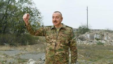 صورة الرئيس الأذربيجاني يتعهد بمحاسبة أرمينيا دولياً على جرائمها