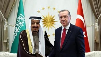 صورة أردوغان والملك سلمان يتفقان على تعزيز الحوار لتحسين العلاقات وحل المشاكل