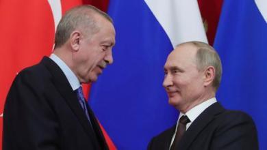 "صورة أردوغان وبوتين يبحثان ملفات سوريا وليبيا و""قره باغ"""