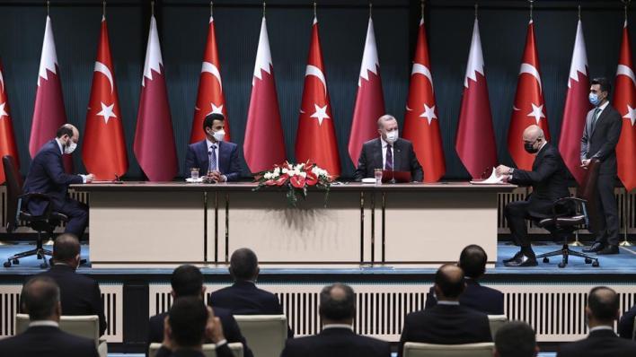تركيا وقطر وقعتا 10 اتفاقيات مختلفة